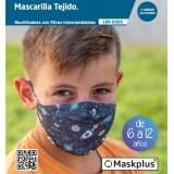 MASKPLUS 6-12 AÑOS UNIVERSO + 10 FILTROS