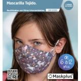 MASKPLUS 6-12 AÑOS UNICORNIO + 10 FILTROS